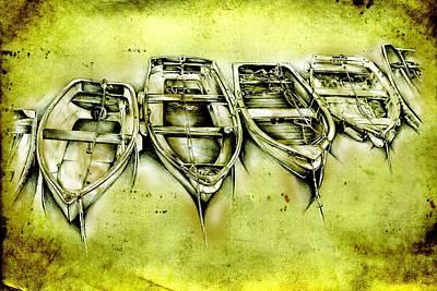 Historic Schooner Digital Art - Marine Sea 14 by Rafal Kulik