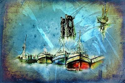 Historic Schooner Digital Art - Marine Sea 29 by Rafal Kulik