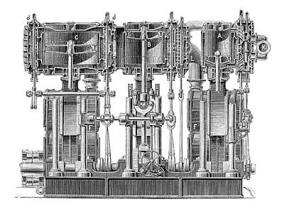 Boiler Photograph - Marine Steam Engine by Science Photo Library