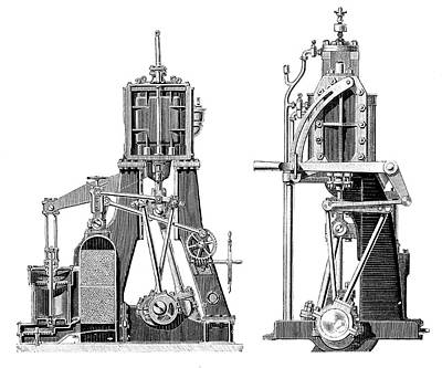 Williams Photograph - Marine Steam Engines by Science Photo Library