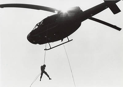 Recon Photograph - Marine Training Helicopter Repelling by Wolfgang Hammersmith