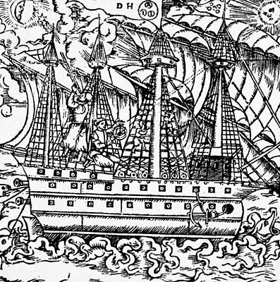 Staff Painting - Mariners Sighting, 1557 by Granger