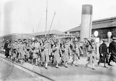 Photograph - Marines Departing, 1913 by Granger