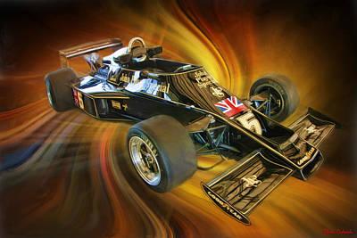 Photograph - Mario Andretti John Player Special Lotus  by Blake Richards