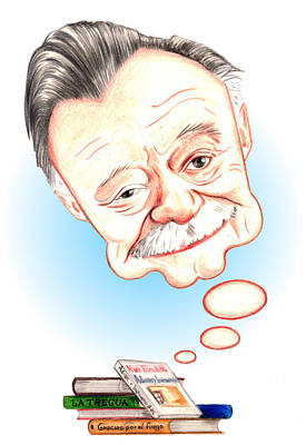 Drawing - Mario Benedetti by Diego Abelenda