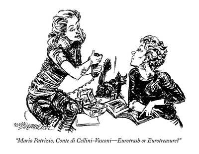 Europe Drawing - Mario Patrizio by William Hamilton