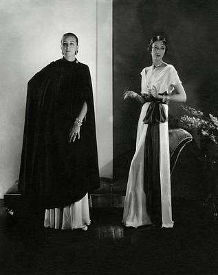 Ruth Photograph - Marion Morehouse And Ruth Covell by Edward Steichen