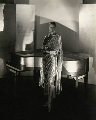 Photograph - Marion Morehouse By A Piano by Edward Steichen