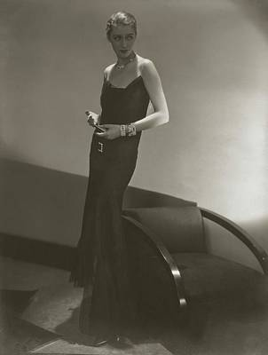 Diamond Necklace Photograph - Marion Morehouse In A Chanel Dress by Edward Steichen
