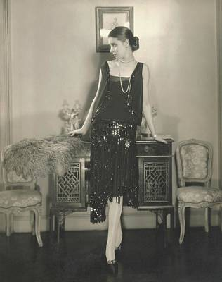 Full Skirt Photograph - Marion Morehouse In A Dress By Chanel by Edward Steichen