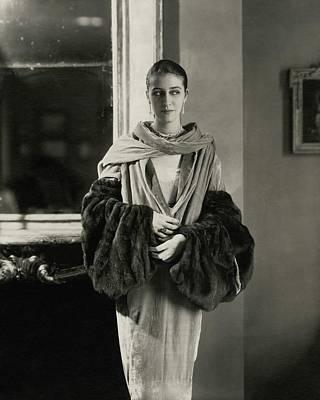 Starr Photograph - Marion Morehouse Wearing A Dress by Edward Steichen
