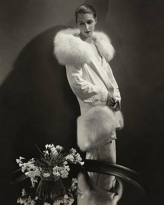 Look Away Photograph - Marion Morehouse Wearing An Augustabernard Jacket by Edward Steichen