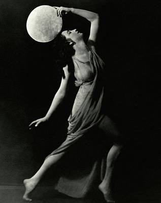 Photograph - Marion Morgan Holding A Circle by Arnold Genthe