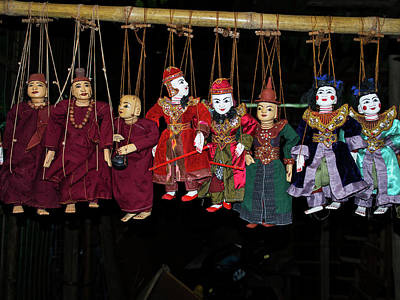 Marionettes Photograph - Marionettes For Sale At Bagan Market by Panoramic Images