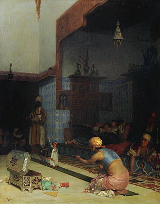 Synagogue Painting - Marionettes In The Harem by Celestial Images