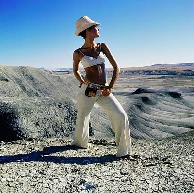 Photograph - Marisa Berenson Wearing A Bikini Top by John Cowan