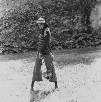 Missoni Photograph - Marisa Berenson Wearing A Sweater And Pants by Elisabetta Catalano
