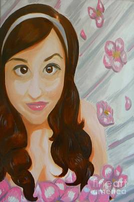 Art Print featuring the painting Marisela by Marisela Mungia