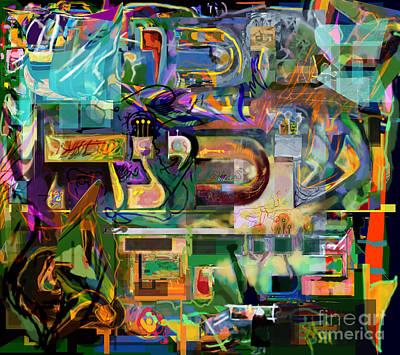 Inner Search Digital Art - Marital Harmony 54 by David Baruch Wolk
