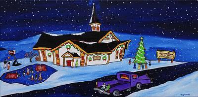 Maritime Christmas Art Print by Holly Everett