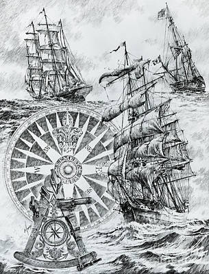 Northwest Drawing - Maritime Heritage by James Williamson