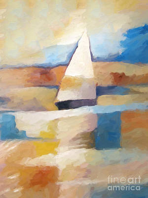 Seascape Impression Painting - Maritime Impression by Lutz Baar
