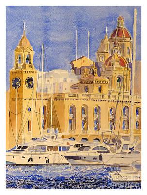 Birgu Painting - Maritime Museum by Godwin Cassar