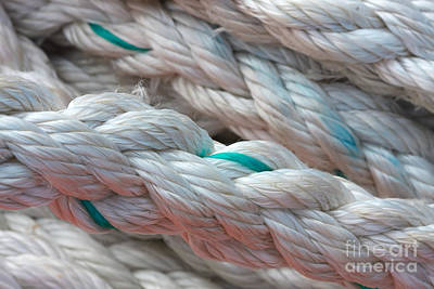 Photograph - Maritime Nylon Rope by Jan Brons
