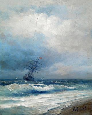 Painting - Maritime Scene by Ivan Konstantinovich Aivazovsky