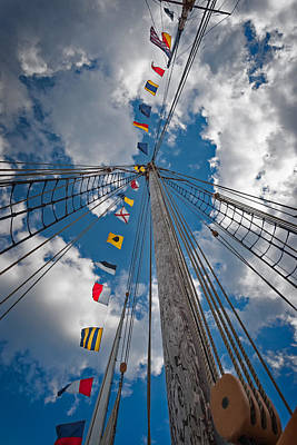 Maritime Signal Flags Art Print by Bill Wakeley