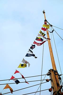Ic Photograph - Maritime Signal Flags by Cordelia Molloy