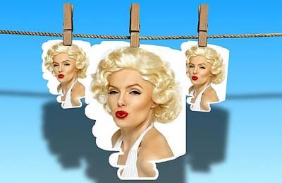 Etc. Digital Art - Mariyln Monroe  Images by HollyWood Creation By linda zanini