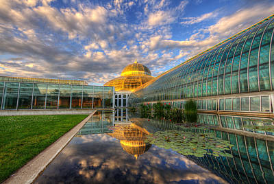 Commercial Art Photograph - Marjorie Mcneely Conservatory Evening  by Wayne Moran