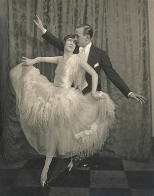 Young Man Photograph - Marjorie Moss And Georges Fontana Dancing by Edward Steichen