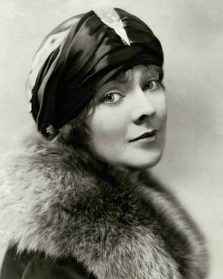 Woman Head Photograph - Marjorie Rambeau Wearing A Turban by Irving Chidnoff