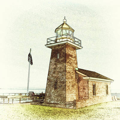 Digital Art - Mark Abbott Lighthouse Santa Cruz California by Paul Topp