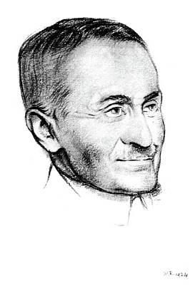 Stein Drawing - Mark Aural Stein (1862-1943) by Granger