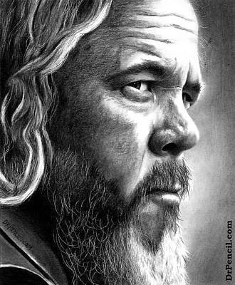 Sons Of Anarchy Drawing - Mark Boone Jr by Rick Fortson