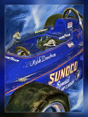 Mark Donohue 1972 Indy 500 Winning Car Art Print