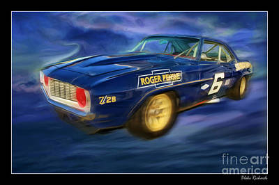 Roger Penske Photograph - Mark Donohue Trans Am Camaro by Blake Richards