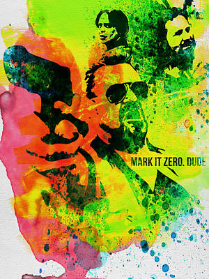 Crime Drama Movie Painting - Mark It Zero Watercolor by Naxart Studio