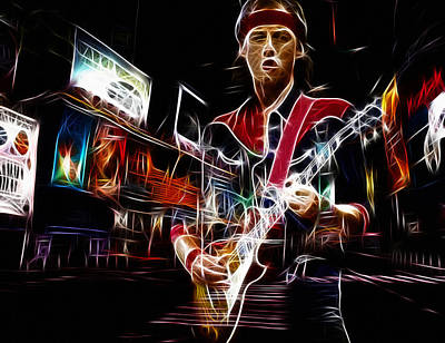 Mark Knopfler Art Print by Steve K