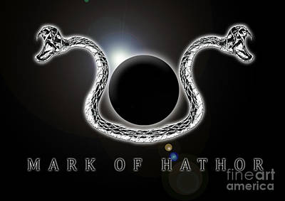 Hathor Digital Art - Mark Of Hathor by Ironheart Illustrations