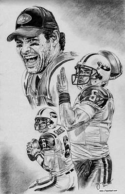 Mark Sanchez Print by Jonathan Tooley