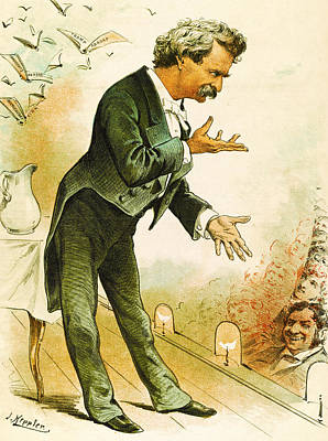Mark Twain Americas Best Humorist Print by Joseph Keppler