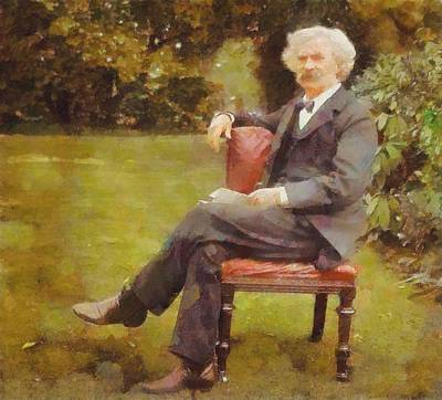 Novel Painting - Mark Twain by Dan Sproul
