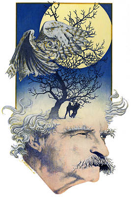Painting - Mark Twain by John D Benson