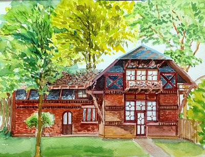 Painting - Mark Twains House by Aditi Bhatt