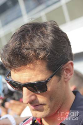 Photograph - Mark Webber by David Grant