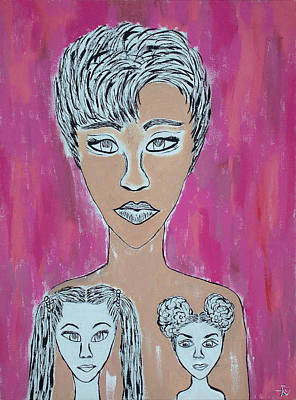 Painting - Mother And Daughters Painting And Drawing by Ai P Nilson